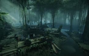 Картинка мост, джунгли, объект, Crysis 3 MP DLC, Crossing