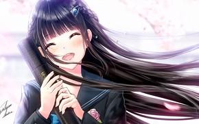 Картинка девушка, улыбка, аниме