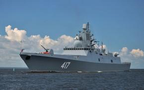 Картинка корабль, фрегат, сторожевой, адмирал флота советского союза горшков