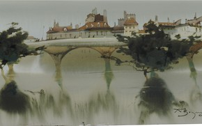 Картинка мост, панорама, арки, Аруш Воцмуш, Пахнет Водой.