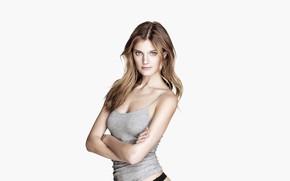 Обои взгляд, поза, модель, прическа, блондинка, hair, Constance Jablonski, Констанс Яблонски