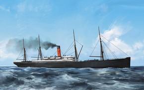 Картинка волны, корабль, armenian, Transatlantic Ships