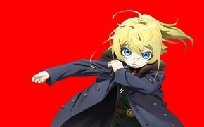 Картинка girl, soldier, military, war, anime, chibi, blue eyes, blonde, asian, manga, oriental, asiatic, powerful, strong, …