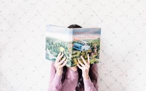 Картинка девушка, руки, книга, Гарри Поттер и Тайная комната, Harry Potter and the Chamber of Secrets