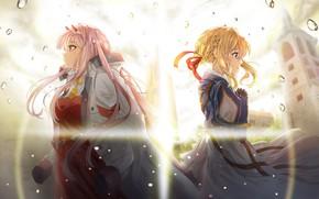 Картинка девушки, аниме, коссовер