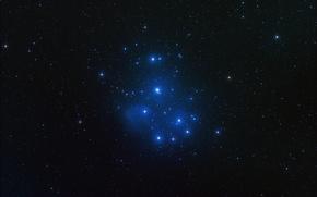 Обои космос, звезды, M45, Pleiades