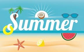 Картинка лето, вектор, открытка