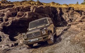 Картинка Mercedes-Benz, внедорожник, коричневый, рельеф, 2018, G-Class