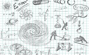 Картинка typography, text, math, formula, poster, mathematics, science, equation, Physics