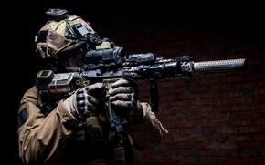 Обои soldier, Military, elite, helmet, equipment