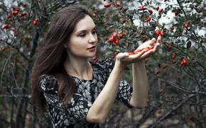 Картинка девушка, природа, сад