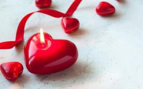 Картинка свечи, red, love, heart, romantic, candle, valentine`s day