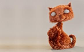 Картинка кот, арт, пушистик, рыжик, Jesus Fernández, Cat Grooming 01
