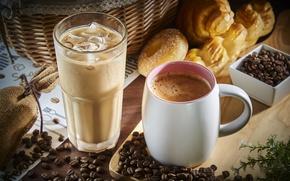 Картинка кофе, напитки, выпечка