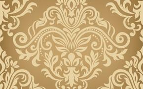 Картинка золото, текстура, gold, орнамент, style, color, seamless background
