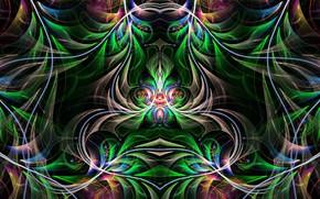 Картинка узоры, фрактал, симметрия