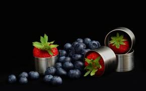 Картинка ягоды, клубника, голубика