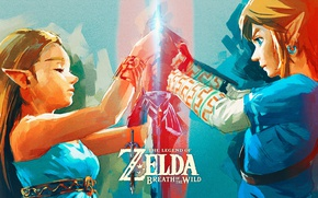 Картинка art, Nintendo, The Legend of Zelda, Link, Princess Zelda, The Legend of Zelda: Breath of …
