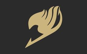 Обои logo, fairy, manga, coat of arms, mahou, Fairy Tail, anime, game