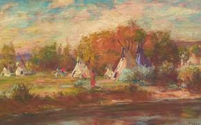 Картинка Joseph Henry Sharp, Crow Camp, on the Little Big Horn
