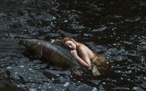 Картинка девушка, русалка, рыба, в воде, Aleah Michele, Strange sightings