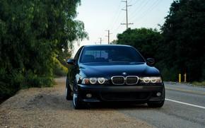 Картинка BMW, Black, E39