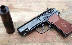 Обои silencer, глушитель, 6П9, Бесшумный пистолет ПБ, weapon, pistol, Gun