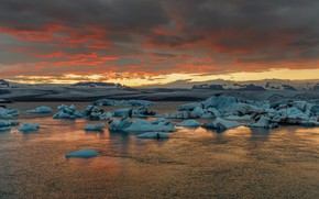 Картинка Auster-Skaftafellssysla, Jökulsárlón, Iceland, Jokulsarlon, Исландия
