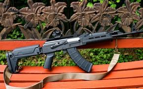 Обои оружие, тюнинг, автомат, weapon, кастом, Калашников, Custom, АКМ, Калаш, AKM, штурмовая винтовка, assault Rifle, 7.62