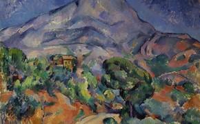 Картинка Paul Cezanne, Мон-Сент-Виктуар, французская живопись, постимпрессионизм