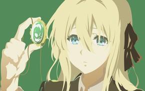 Картинка dress, anime, blue eyes, blonde, japanese, bishojo, mahou, Violet Evergarden