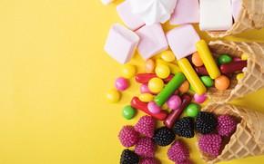 Картинка сладости, леденцы, зефирки, дрожже