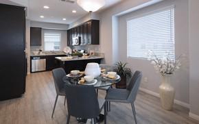 Картинка цветок, дизайн, стол, стулья, интерьер, кухня, design, interior, table, kitchen