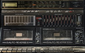 Обои радио, касетник, Sharp