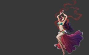 Обои игра, фэнтези, девушка, арт, дизайн костюма, танец