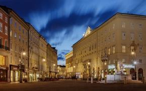 Картинка огни, вечер, Италия, Italia, Триест, Trieste