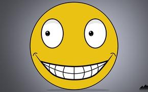 Картинка улыбка, смайл, злой, смайлик, красивый, улыбается, обои на рабочий стол, насмехается, обои 1920x1080, коварный, злара, …