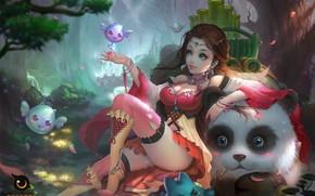 Картинка игра, арт, панда, пет, Цзяншань