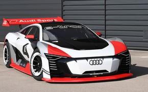 Картинка Audi, гоночное авто, Vision, 2018, Gran Turismo, E-Tron