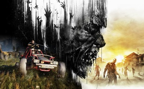 Картинка zombie, gun, game, undead, biohazard, weapon, survivor, Dying Light, Dying Light The Following, Dying Light: …