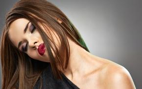 Картинка model, brunette, make up