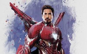 Картинка Рисунок, Костюм, Актер, Герой, Кино, Борода, Супергерой, Hero, Броня, Железный человек, Фильм, Фантастика, Iron Man, …