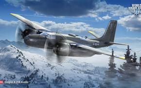 Картинка бомбардировщик, World of Warplanes, WoWp, Wargaming, Invader, Douglas A-26B
