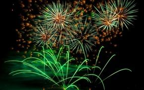 Картинка салют, colorful, фейерверк, night, fireworks, 2017, holiday celebration, Новый Год сохранить