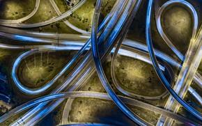 Картинка дорога, свет, город, дороги