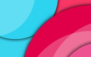 Обои круги, голубой, геометрия, material, розовый, design, bacground, малиновый, вектор