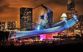 Обои Остин, выставка, штат Техас, космический телескоп Джеймса Вебба, полномасштабная модель, США