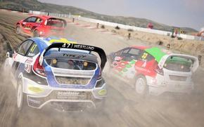Картинка car, logo, game, dust, race, speed, Dirt 4