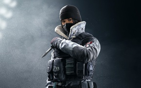 Картинка game, Frost, soldier, Rainbow Six, knife, Tom Clancy's Rainbow Six Siege, Rainbow Six Siege