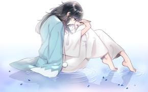 Картинка аниме, арт, парень, Touken Ranbu, Танец мечей